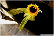 Wedding Sunflower Car Decoration