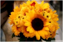 Bridal Bouquet Sunflowers