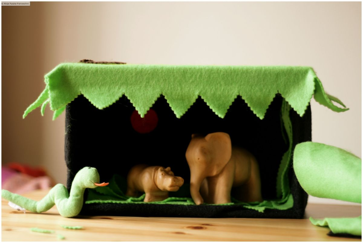 DIY: safari made out of a shoe box